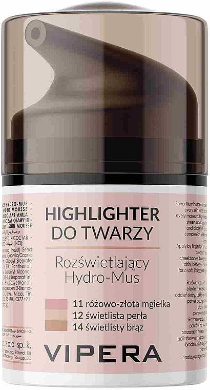 Penový rozjasňovač - Vipera Illuminating Hydro-Mousse Highlighter