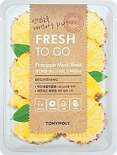 Voňavky, Parfémy, kozmetika Osviežujúca maska s ananásom - Tony Moly Fresh To Go Mask Sheet Pineapple