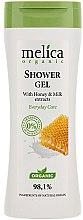 Voňavky, Parfémy, kozmetika Sprchový gél s medom a mliekom - Melica Organic Shower Gel