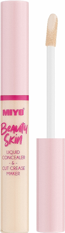 Tekutý korektor na tvár - Miyo Beauty Skin Liquid Concealer & Cut Crease Maker (01 -Hello Cream)