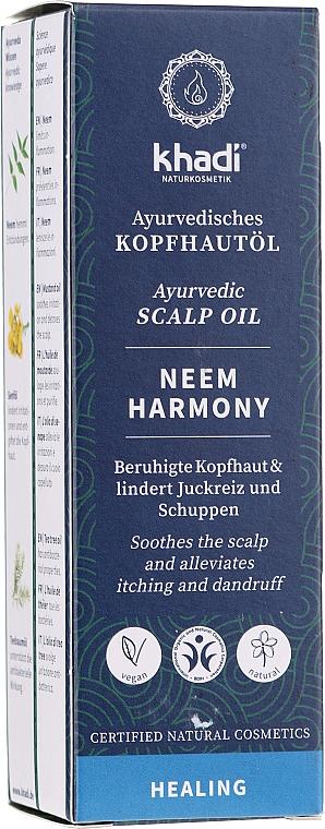 Ajurvédsky olej na pokožku hlavy - Khadi Ayurvedic Scalp Oil Neem Harmony