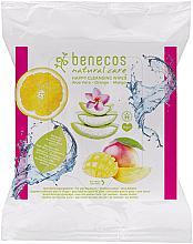 Voňavky, Parfémy, kozmetika Čistiace vlhčené obrúsky - Benecos Natural Care Happy Cleansing Wipes