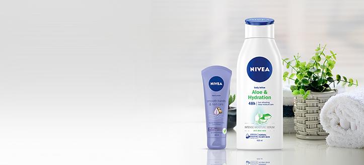 Zľavy až do -20% na akciové výrobky Nivea. Ceny na stránke sú uvedené so zľavou