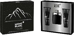Voňavky, Parfémy, kozmetika Montblanc Legend - Sada (edt/100ml+ash/balm/100ml+sh/gel/100ml)
