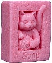 """Voňavky, Parfémy, kozmetika Prírodné mydlo """"Mačka s klbkom"""", ružové - LaQ Happy Soaps"""