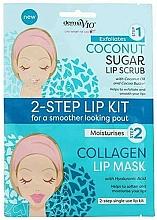 Voňavky, Parfémy, kozmetika Peleingová maska na pery s kokosom - Derma V10 2 Step Lip Treatment Kit Coconut