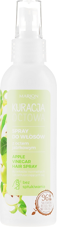 Sprej na vlasy s jablčným octom pre normálne a mastné vlasy - Marion Apple Vinegar Hair Spray