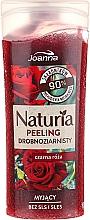 """Voňavky, Parfémy, kozmetika Sprchový peeling jemnozrnný """"Čierna ruža"""" - Joanna Naturia Peeling"""