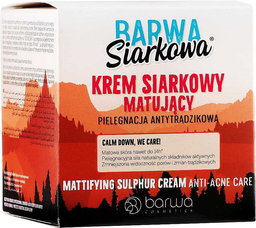 Matujúci sírny krém - Barwa Anti-Acne Cream Sulfuric