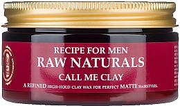 Voňavky, Parfémy, kozmetika Vosk na vlasy - Recipe For Men RAW Naturals Call Me Clay