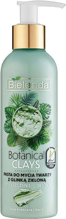 Pasta na tvár zo zelenej hliny - Bielenda Botanical Clays Vegan Face Wash Paste Green Clay