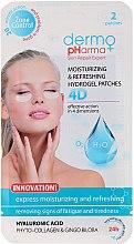 Voňavky, Parfémy, kozmetika Gélové náplasti pod oči - Dermo Pharma 4D Moisturizing & Refreshing Gel Patches