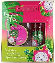 Voňavky, Parfémy, kozmetika Sada - Bielenda Exotic Paradise Pitaja (scrub/350g + butter/400ml)