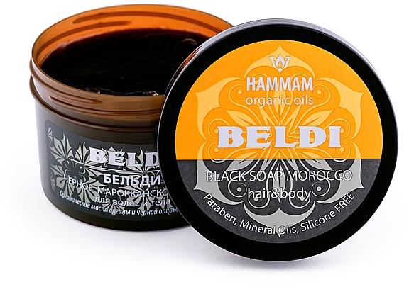 "Čierne marocké mydlo ""Beldi"" na vlasy a telo - Hammam Organic Oils — Obrázky N3"