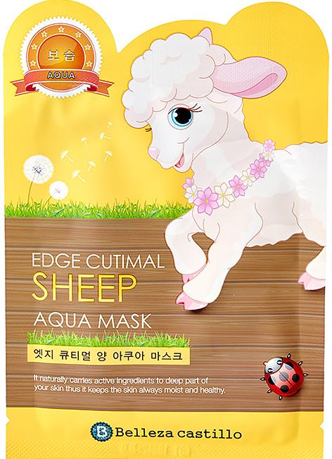 """Látková maska na tvár """"Ovečka"""" - Belleza Castillo Edge Cutimal Sheep Anti-Wrinkle Mask — Obrázky N1"""