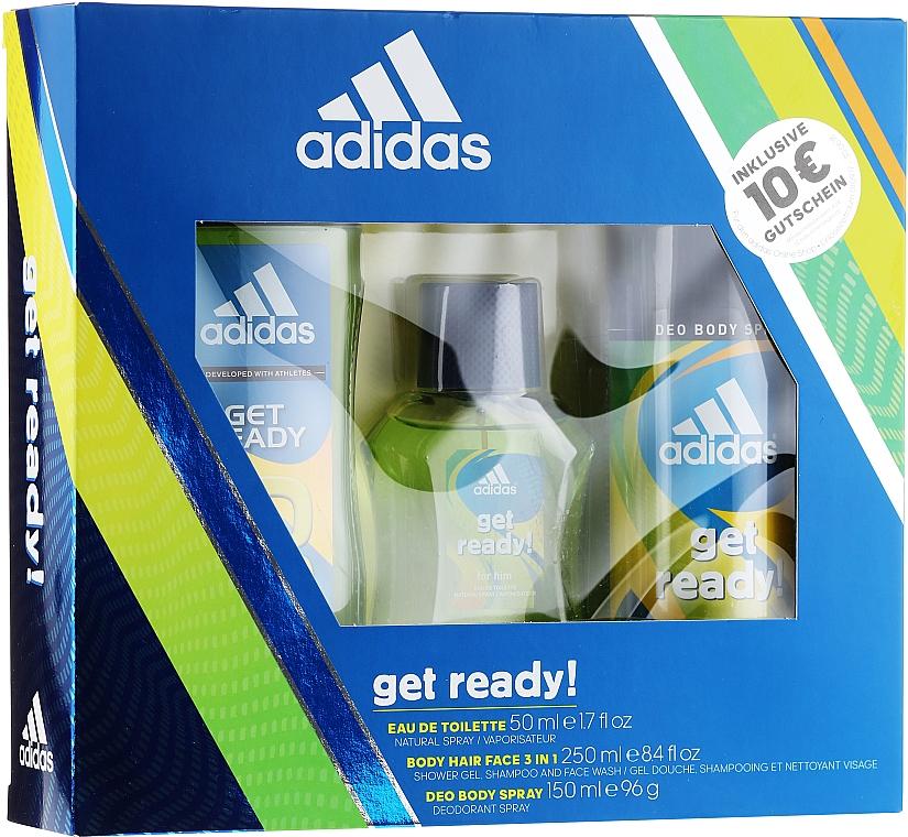 Adidas Get Ready for Him - Sada (edt/50ml + deo/150ml + s/g/250ml)