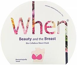Voňavky, Parfémy, kozmetika Biocelulózna a spevňujúca maska na poprsie - When Beauty And The Breast Bio-Cellulose Mask
