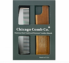 Voňavky, Parfémy, kozmetika Sada - Chicago Comb Co CHICA-3-SET (comb/1pcs + case/1pcs) (1 ks)