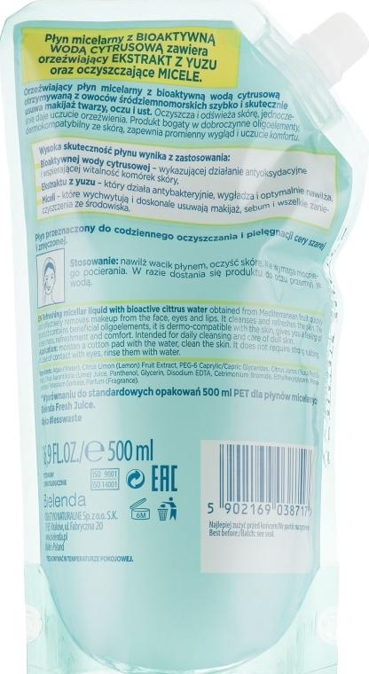 "Micelárna tekutina ""Yuzu"" - Bielenda Fresh Juice Detoxifying Face Micellar Water Yuzu — Obrázky N2"