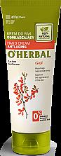 Voňavky, Parfémy, kozmetika Omladzujúci krém na ruky s výťažkom z godži bobule - O'Herbal Rejuvenating Hand Cream With Goji Berry Extract