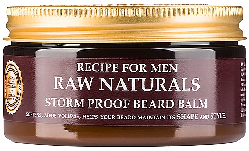 Balzam na bradu - Recipe For Men RAW Naturals Storm Proof Beard Balm