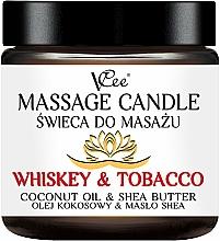 """Voňavky, Parfémy, kozmetika Masážna sviečka """"Whisky a tabak"""" - VCee Massage Candle Whiskey & Tobacco Coconut Oil & Shea Butter"""