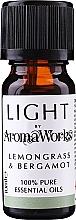 """Voňavky, Parfémy, kozmetika Esenciálny olej """"Citrónová tráva a bergamot"""" - AromaWorks Light Range Lemongrass and Bergamot Essential Oil"""