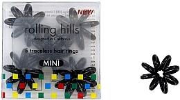 Voňavky, Parfémy, kozmetika Gumička-náramok do vlasov, mini, čierna - Rolling Hills 5 Traceless Hair Rings Mini Black