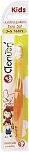 Voňavky, Parfémy, kozmetika Detská ultra mäkká zubná kefka, oranžová - Twin Lotus Dok Bua Ku Kids Toothbrush ExtraSoft