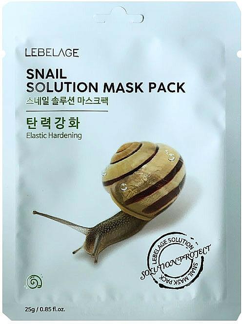Textilná maska na tvár - Lebelage Snail Solution Mask