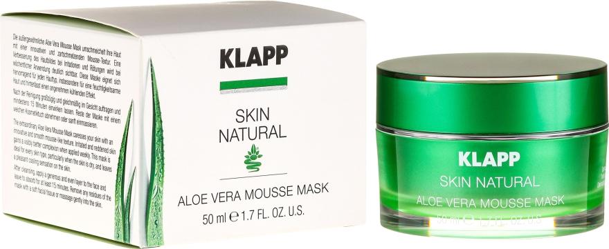 Upokojúca maska s aloe vera - Klapp Skin Natural Aloe Vera Mousse Mask — Obrázky N1