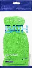 Voňavky, Parfémy, kozmetika Hubka-rukavica do kúpeľa, svetlozelená - Suavipiel Bath Micro Fiber Mitt Extra Soft