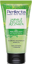 """Voňavky, Parfémy, kozmetika Čistiaci gélový peeling na umývanie tváre """"Kapusta a zelený jačmeň"""" - Perfecta"""