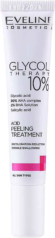 Kyselinový peeling 10% - Eveline Glycol Therapy Kwasowa Kuracja Peelingujaca 10%