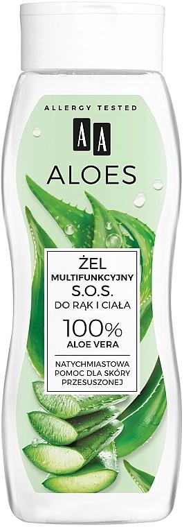Multifunkčný gél na ruky a telo - AA Aloes 100% Aloe Vera Hand And Body SOS Gel
