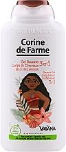 """Voňavky, Parfémy, kozmetika Sprchový gél """"Moana"""" - Corine de Farme Vaiana Shower Gel 3 in 1"""