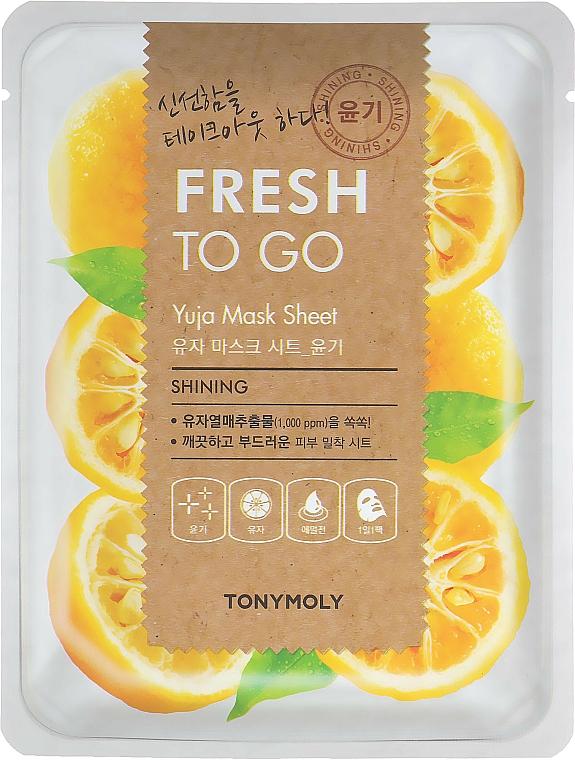 Textilná maska s citrusom yuzu pre žiarivosť pokožky - Tony Moly Fresh To Go Mask Sheet Yuja