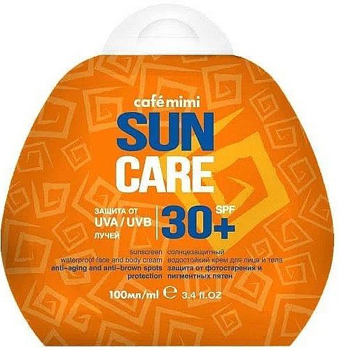 Vodotesný krém na tvár a telo s ochranou pred slnkom SPF30+ - Cafe Mimi Sun Care