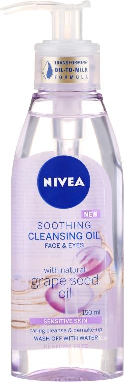 Čistiaci olej pre citlivú pokožku - Nivea Cleansing Oil Soothing Grape Seed