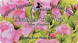 """Voňavky, Parfémy, kozmetika Prírodné mydlo """"Kytica ruží"""" - Florinda Sapone Vegetale Vegetal Soap Rose Bouquet"""