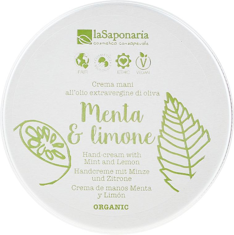 "Krém na ruky ""Mäta a citrón"" - La Saponaria Hand Cream Mint and Lemon"