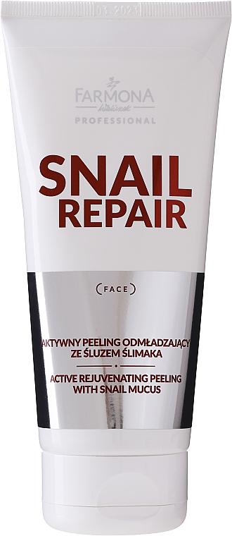 Aktívny omladzujúci peeling so slimačím slizom - Farmona Professional Snail Repair Active Rejuvenating Peeling With Snail Mucus