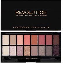 Voňavky, Parfémy, kozmetika Paleta tieňov na viečka, 16 farieb - Makeup Revolution Profesional Eyeshadow Palette