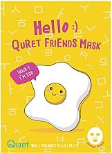 Voňavky, Parfémy, kozmetika Maska s extraktom z vaječného bielka - Quret Hello Friends Mask Egg
