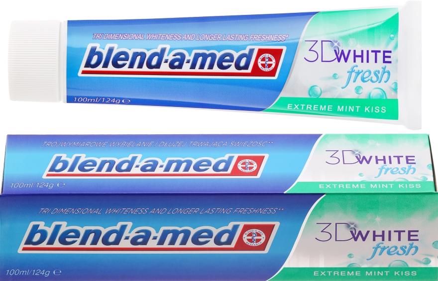 """Zubná pasta """"Mätový bozk"""" - Blend-a-med 3D White Fresh Extreme Mint Kiss Toothpaste"""