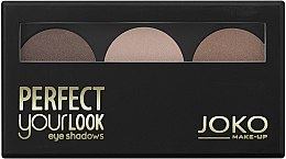 Voňavky, Parfémy, kozmetika Očné tiene na viečka trochfarebné - Joko Perfect Your Look Trio Eye Shadows