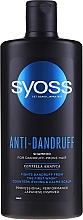 Voňavky, Parfémy, kozmetika Šampón na vlasy náchylné na vyskyt lupín - Syoss Anti-Dandruff Centella Asiatica Shampoo