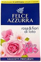"""Voňavky, Parfémy, kozmetika Voňavé vrecúško """"Ruža a lotosový kvet"""" - Felce Azzurra Sachets Rose and Flowers Of Lotus"""