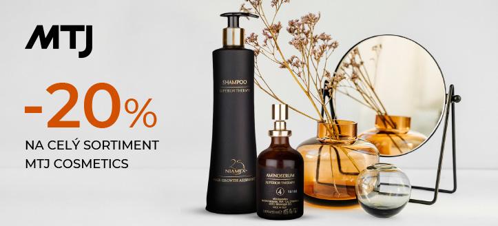 Zľava 20% na celý sortiment MTJ Cosmetics. Ceny na stránke sú uvedené so zľavou