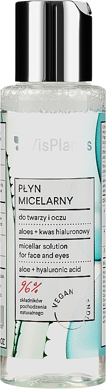 Micelárny roztok s aloe šťavou a pantenolom - Vis Plantis Herbal Vital Care Micellar Solution 3in1